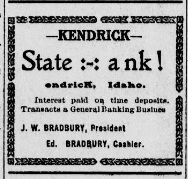 Kendrik Gazette Jan 11 1907