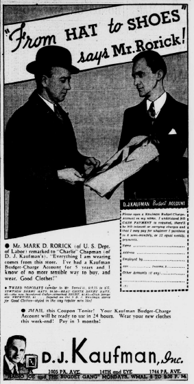Washington Evening Star November 8 1934